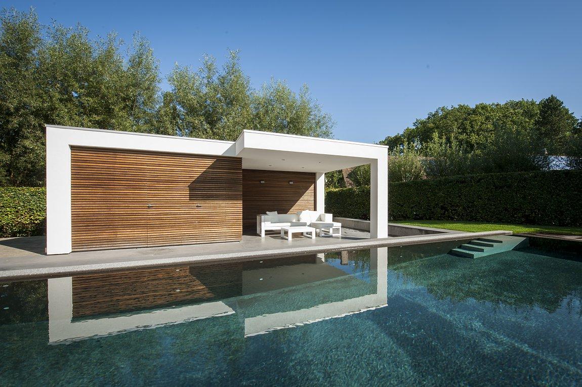 modern poolhouse bogarden. Black Bedroom Furniture Sets. Home Design Ideas